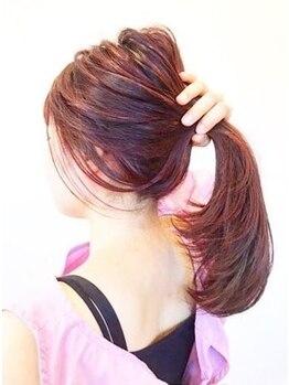 リッツヘアー(Ritz hair)の写真/人気話題【イルミナカラー+カット 11000円→5500円】でなりたい髪色を手に入れて…♪クーポン多数掲載☆
