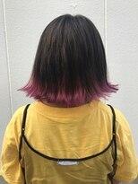 ポッシュ 原宿店(HAIR&MAKE POSH)切りっぱなしボブ×ピンクグラデ
