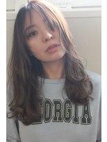 ジル ヘアデザイン ナンバ(JILL Hair Design NAMBA)【大人可愛いセミロング】外国人の様な透け感グレージュカラー☆
