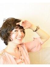 アンシー ヘア デザイン(an-cie hair design+)綺麗め女子の柔らかミディアムスタイル