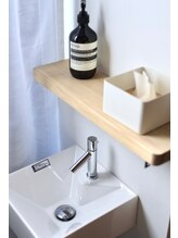 手洗い場の設置、手指消毒