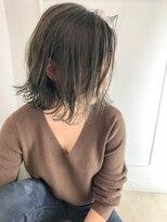ラフィネ(raffine)切りっぱなしボブ×今旬ミントグレージュ☆raffine中村大輔