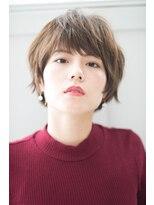 リル ヘアーデザイン(Rire hair design)【Rire-リル銀座-】くせ毛風☆斜めバングショートボブ☆