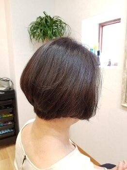 ルモア(LUMORE)の写真/≪【LUMORE】のケアで髪の変化を実感≫傷んだ髪質を改善し指どおりの良いしなやかなツヤ髪へとチェンジ!