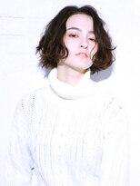 バッテリー ヘアアンドメイク 塚本店(Battery hair&make)ニュアンス大人ボブ