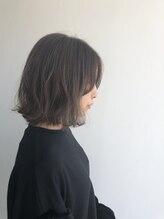 ヘアメイク オブジェ(hair make objet)スペシャルハイライトな切りっぱなしボブ