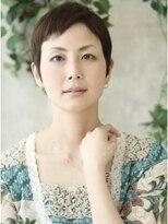 モニカ 横須賀中央店(Monica)ボーイッシュなショートは短め前髪でアクセント