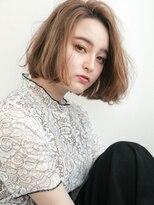 リー 神楽坂(Re-)エアリーショート×グレージュ☆こなれルーズ切りっぱなしボブ