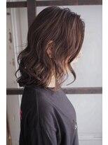 リタへアーズ(RITA Hairs)[RITA Hairs]極細ハイライトxパープルベージュ☆お客様BackShot