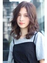 クーエフー(coo et fuu)【表参道】ブランジュカラーのウェーブセミロング★2藤沢