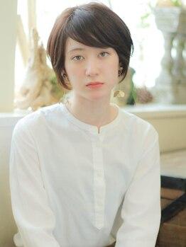 ナトゥーラ 金山店(Natura)の写真/【金山駅】おしゃれな明るめの白髪染めで透明感・気になる部分はしっかりカバーし、人とは違う白髪染めに♪