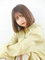 【AUBE HAIR】ナチュラルブラウン_ボブヘア