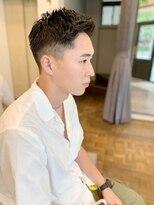ヘアーアイスカルテット(HAIR ICI QUARTET)ナチュラル × フェード × メンズ
