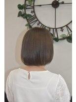ヘアーサロン エール 原宿(hair salon ailes)(ailes 原宿)style356 ストレート☆グレージュボブ