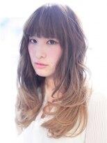 モニカ 横須賀中央店(Monica)巻き髪でナチュラル大人可愛いグラデーションカール