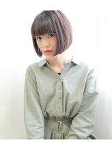 アン ヘア デザイン(un hair design)【 un 】柔らか×ボブ×ダークミント