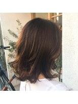 ハブコヘアスパ(HaBCo hair spa)秋色透明感カラー×ロブ