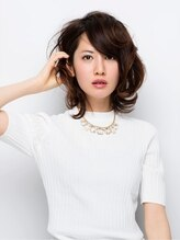 ヘアーアンドスペースコト 東口店(hair+space coto)甘めカール×クールな重軽☆甘辛女子のジェンダーレス☆