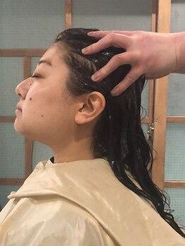 アオイ(AOI)の写真/【リマサリ クリームバス】ヘッドリラクゼーションマッサージで頭皮環境を整えます!