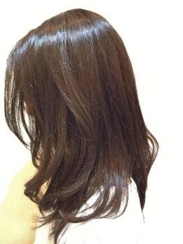 ツムギ(tsumugi HAIR DESIGN)の写真/『艶感たっぷり♪』一人ひとりにブレンドするオーダーメイドカラーで《トレンド×似合わせ》が叶う!