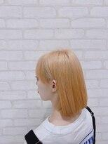 ビス ヘア アンド ビューティー 西新井店(Vis Hair&Beauty)ホワイトベージュ/ブリーチ/ハイトーン/プラチナ/ボブ/10代20代