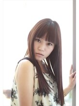 ヘアーアンドスペースコト 東口店(hair+space coto)重め前髪×ダークトーンのストレートでこなれクール女子ロング
