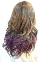 ヘアーグランデシーク(Hair Grande Seeek)Ash~violetのグラデcolor(^^)