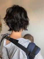 ヘア ミール(hair mirle)伸ばしかけでも楽なパーマスタイル