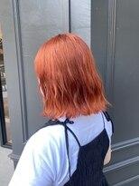 ヘアーアイスカルテット(HAIR ICI QUARTET)●オレンジカラー レッドオレンジ ビビッド