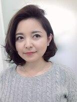 ミチ(michi)明るい白髪染めイチゴカラー+ダメージレスのクリープパーマ