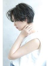 ブラン 天王寺(Blanc)【Blanc/天王寺】ショートヘア_デジタルパーマ_グレージュボブ