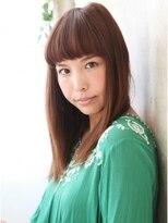 モニカ 横須賀中央店(Monica)☆[上品にかわいく]短めバングストレートスタイル☆