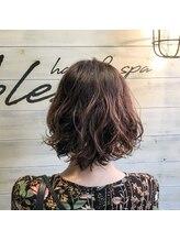 ブレス ヘアアンドスパ 湘南台(bless hair spa)オトナ女子パーマ スタイリング時間10分縮めます。