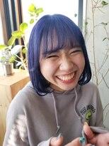 テトヘアー(teto hair)韓国ヘア 韓国スタイル 韓国 ボブ ラベンダー 紫 ブルー