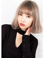 ヘアサロン ガリカ 表参道(hair salon Gallica)『 ワンカールボブ × グレージュ』☆ 小顔ひし形シルエット