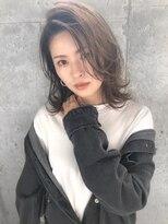 ルノン フィージュ(LUNON fieju)【LUNON fieju】外ハネミディ×グレーベージュ