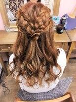 ヘアセットサロン アトリエ チャイ(Hair set salon atelier CHAI)ダブル編みハーフアップ