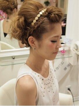 結婚式の髪型(ヘアアレンジ)  シフォンアップ