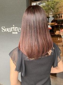 スーリール 今宿店(Sourire)の写真/▼▽圧倒的な毛髪補修率のTOKIOインカラミトリートメントで髪の内部を集中補修▽▼