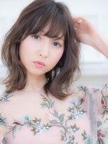 オーブ ヘアー フィオーレ 京都桂店(AUBE HAIR fiore)ラフウェーブ♪ミディアム