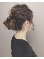 ピエドプールポッシュ(PiED DE POULE POCHE)* arrange hair * アップスタイル