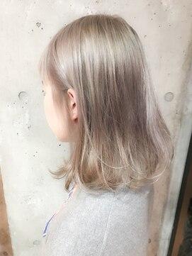 サロンドミルク 原宿(salon de MiLK) アッシュ×ブロンド ハイブリーチカラー☆