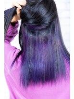 ヘアーメイク ダンス(hair make DANCE)マーブリングブルーカラー