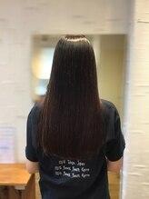 ハール ヘア スタジオ(haar HAIR STUDIO)ツルツルストレート☆小顔 お手入れ楽チン