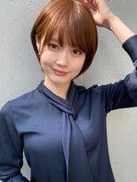 トゥーナ 表参道(tona)外ハネくびれイヤリングカラーイメチェンラベンダーカラー前髪、