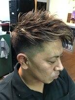 バーバーショップ カズー BARBER SHOP KA-ZOO前髪長めツーブロックスタイル