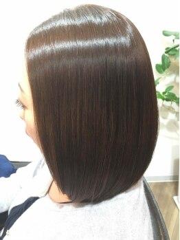 髪質改善ヘアエステ ライフ(LIFE)の写真/カラーとトリートメントの同時進行!!カラーに栄養分を補給するので、回数を重ねるごとに潤い艶美髪に♪