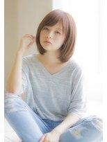 <Ramie寺尾拓巳>大人女子3Dカラーブルージュストレートロブ