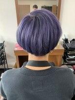 アールピクシー(Hair Work's r.Pixy)アメジストブルーカラー × マッシュヘア