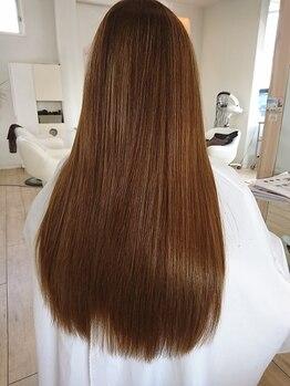 コンティニュー ヘア デザイン(CONTINUE hair design)の写真/≪憧れのサラ艶Hairが手に入る≫忙しい朝の面倒なスタイリングも楽々♪ダメージが気になる方にも◎